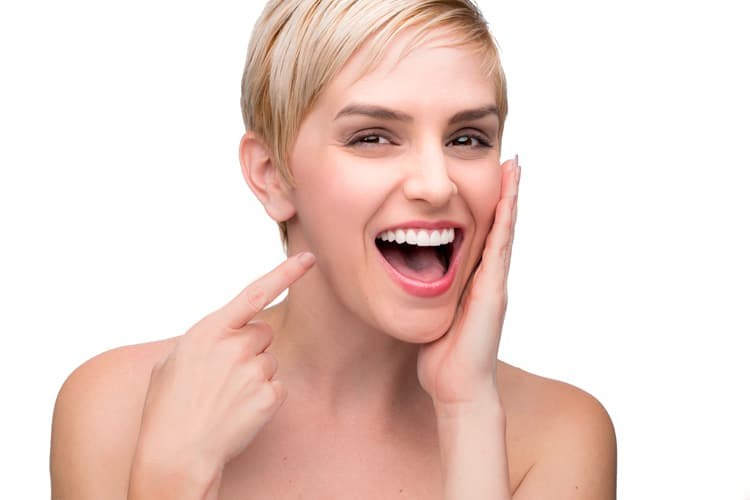 Woman with new smile