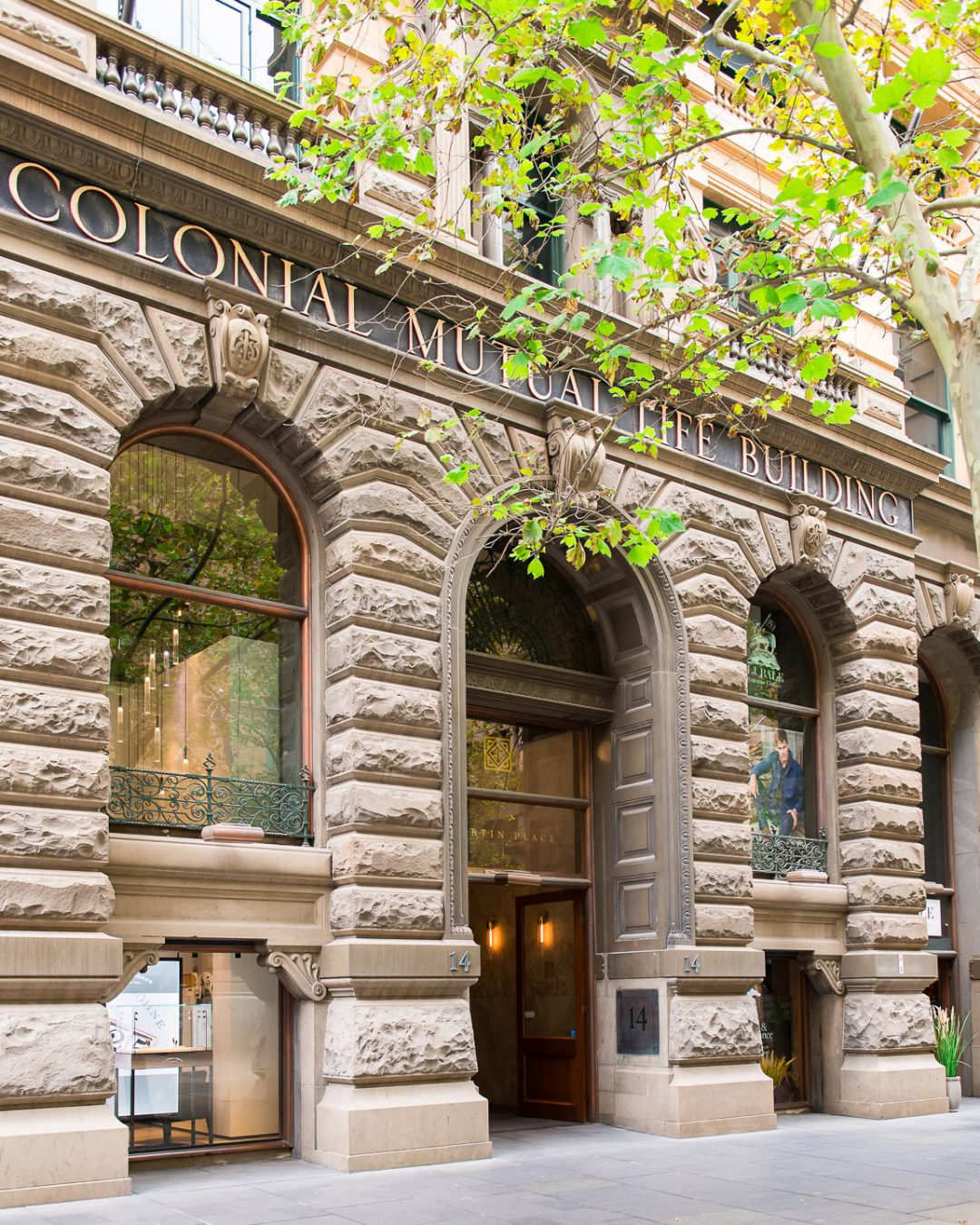 Colonial Mutual Life building Martin Place entrance