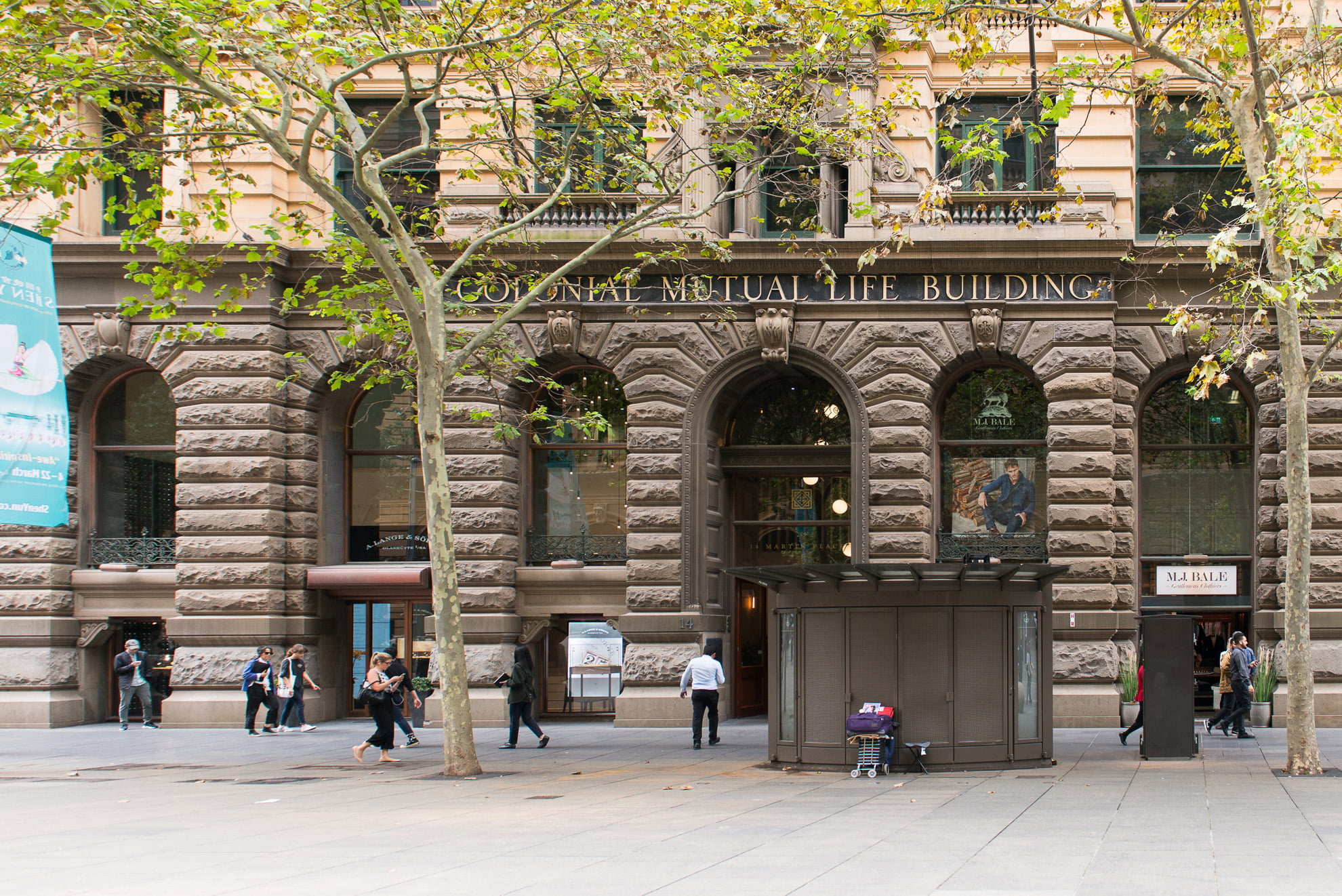 The historical Colonial Mutual Life building